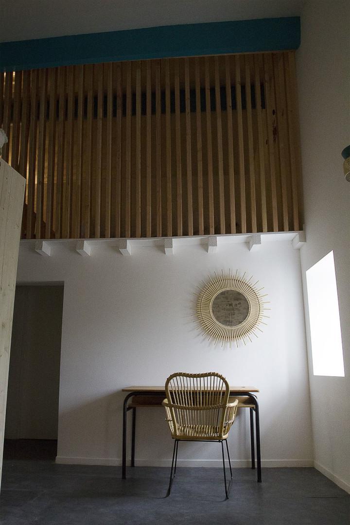 Espace bureau de la chambre d'hôte Eau